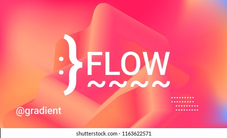 Fluid shapes. Liquid orange, pink, rose, yellow, gold neon background. Organic fluid colors pattern. Beauty cosmetic template. Modern colorful texture. Gradient shapes. Minimal geometric background.