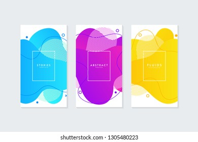 Fluid shapes template for social media stories. Banner or background for social media.