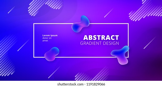 Fluid style geometric background - Futuristic minimal gradient template