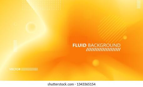 Fluid summer color gradient. Minimal futuristic liquid gradient design. Yellow trendy template banner. Vector graphic design