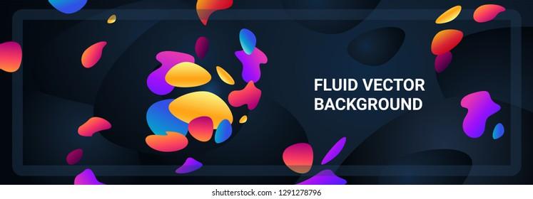 Fluid vector background. Easy custom color vector shapes.
