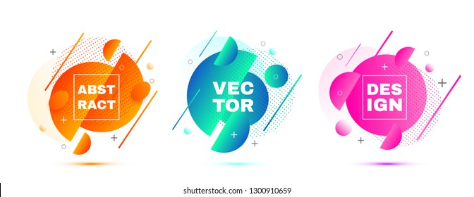 Fluid vector layout template. Vector background. Round shapes for your design.
