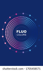 Fluo Background with Modern Shapes and Circles. Vector EPS10