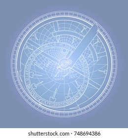 Fluorescent astrolabe