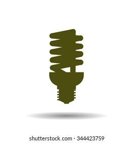 fluorescent lamp. icon. vector design
