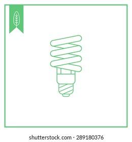 Fluorescent lamp line icon