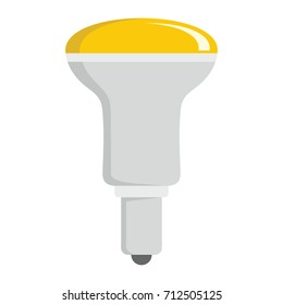 Fluorescent light bulb flat icons set vector illustration for design and web isolated on white background. Fluorescent light bulb vector object for labels, logos and advertising