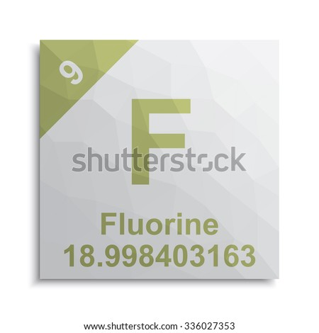 Fluorine Element Periodic Table Stock Vector Royalty Free