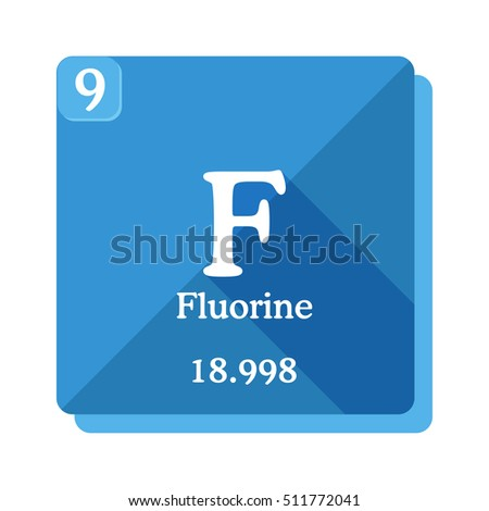 Fluorine F Element Periodic Table Vector Stock Vector Royalty Free