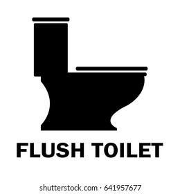 Flush toilet vector icon.