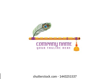 Flute logo design . Isolated on white background.