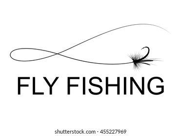 fly fishing hook, vector