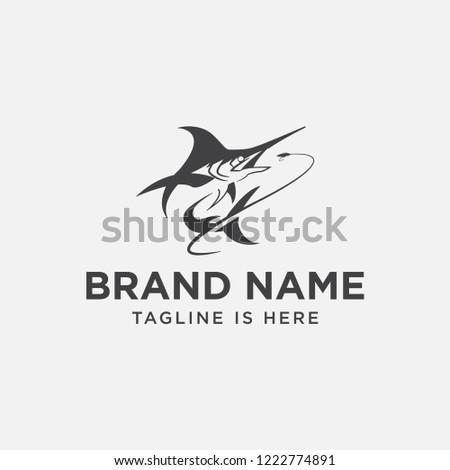 Fly Fishing Logo Design Fishing Logo Stock Vector Royalty Free