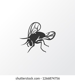 Fly icon symbol. Premium quality isolated housefly element in trendy style.