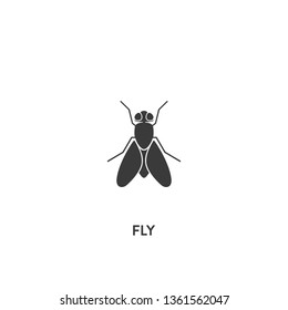 fly icon vector. fly sign on white background. fly icon for web and app