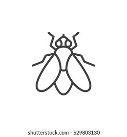 Fly line icon, outline vector sign, linear pictogram isolated on white. Symbol, logo illustration