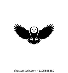 fly owl vector silhouette