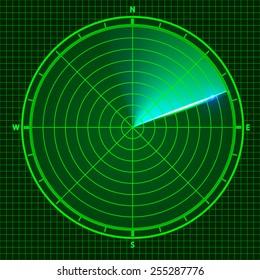 Fly radar. Vector illustration
