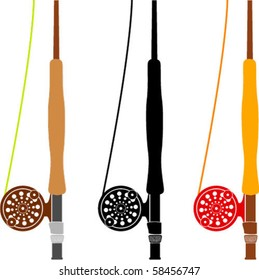 Fly Rods Vector