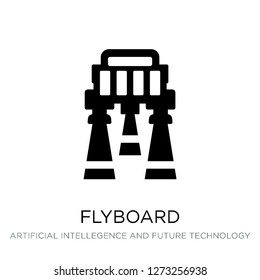 flyboard icon vector on white background, flyboard trendy filled icons from Artificial intellegence and future technology collection, flyboard simple element illustration