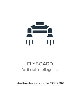 Flyboard icon vector. Trendy flat flyboard icon from artificial intellegence and future technology collection isolated on white background. Vector illustration can be used for web and mobile graphic
