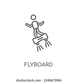 Flyboard linear icon. Modern outline Flyboard logo concept on white background from Artificial Intellegence and Future Technology collection. Suitable for use on web apps, mobile apps and print media.