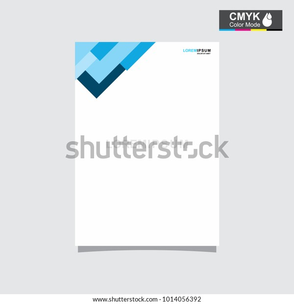 Flyer Brochure A4 Poster Annual Resume Stock Vector Royalty Free