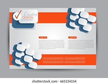 Flyer, brochure, billboard template design landscape orientation for education, presentation, website. Editable vector illustration.