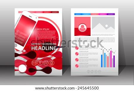 flyer brochure booklet design templates front stock vector royalty