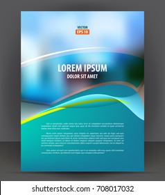 Flyer brochure, cover layout design print template, pamphlet vector Illustration
