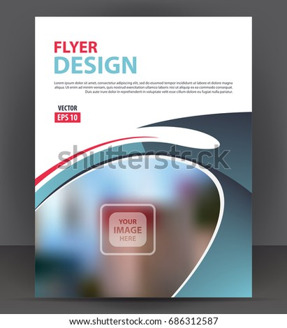 flyer brochure cover layout design print stock vector royalty free