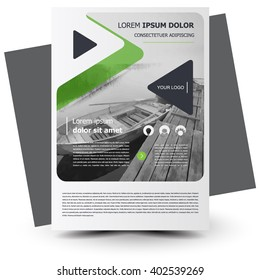 Flyer brochure design, flyer size A4 template, creative leaflet, trend cover