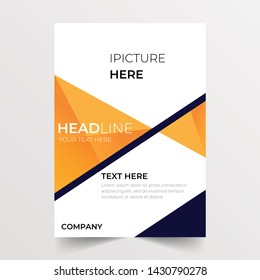 Flyer brochure design template in a4 size with space for images