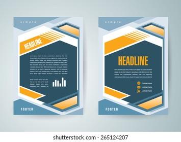 flyer brochure design template abstract geometric