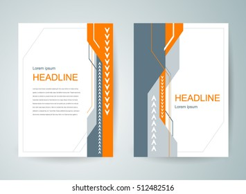 flyer brochure design template cover abstract
