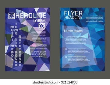 Flyer, Brochure Design Templates. Geometric Triangular Abstract Modern Backgrounds design for print,