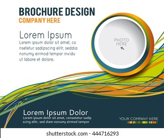 Flyer or brochure template, abstract colorful design
