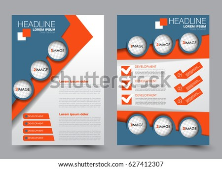 Flyer Brochure Template Annual Report Cover Stock Vector Royalty
