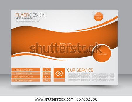 Flyer Brochure Template Design Landscape Orientation Stock Vector
