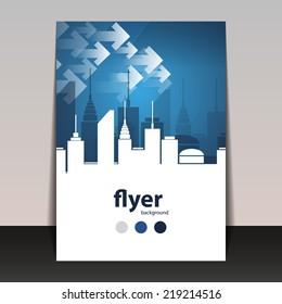 Flyer or Cover Design - Cityscape Silhouette