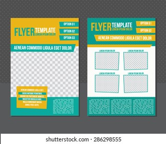 Flyer or cover template.