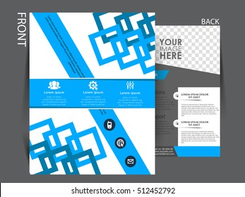 Flyer design background. Brochure template. Can be used for magazine cover, business mockup, education, presentation,.
