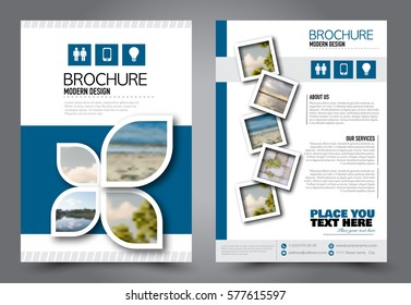 School Magazine Cover Design Stock Vectors Images Vector