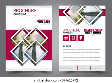 Flyer design. Business brochure template. Annual report cover. Booklet for education, advertisement, presentation, magazine page. a4 size vector illustration. Red color