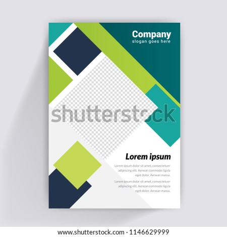 flyer design business brochure template booklet stock vector