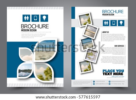 Flyer Design Business Brochure Template Annual Stock Vektorgrafik