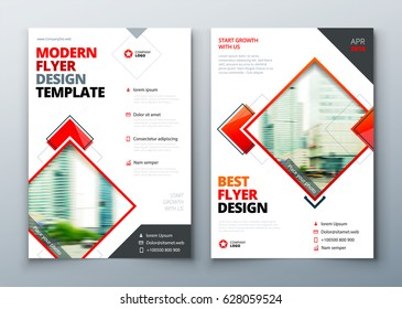 Flyer design. Corporate business flyer. Leaflet presentation. Teal Flyer with abstract circle, round shapes background. Modern poster flier magazine, layout, template. A4.