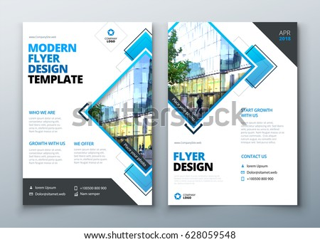 Flyer Design Corporate Business Report Cover Stock-Vektorgrafik ...
