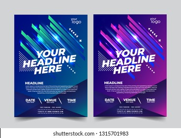 Flyer design Futuristic sports invitation template. Can be adapt to Brochure, Annual Report, Magazine, Poster - Vector