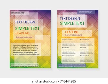 Flyer design template vector in A4 layout for business, brochure, annual report, magazine, poster, portfolio, books with abstract and geometric background - illustration EPS 10.